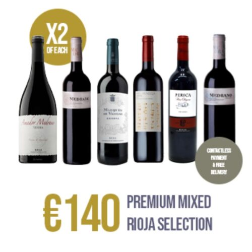 Premium selection of 6 red wines from DOCa Rioja